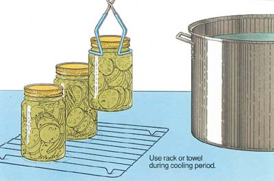 Illustration of using a rack during cooling period